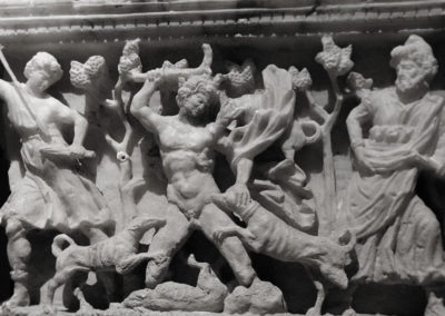 Etruscan Funerary Urn with Actaeon Attacked by Dogs, Volterra